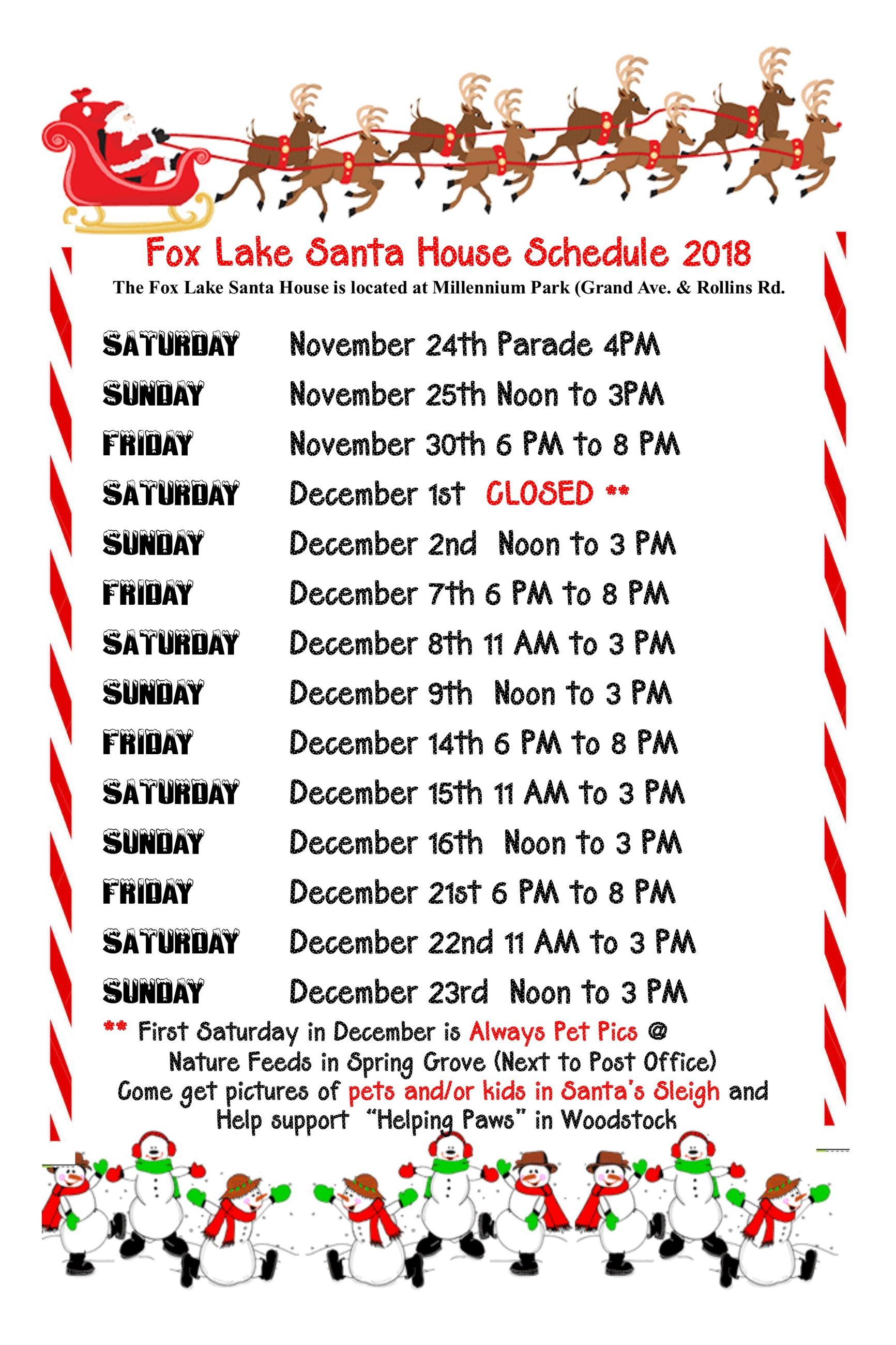 Santa House Hours Tabloid  2018