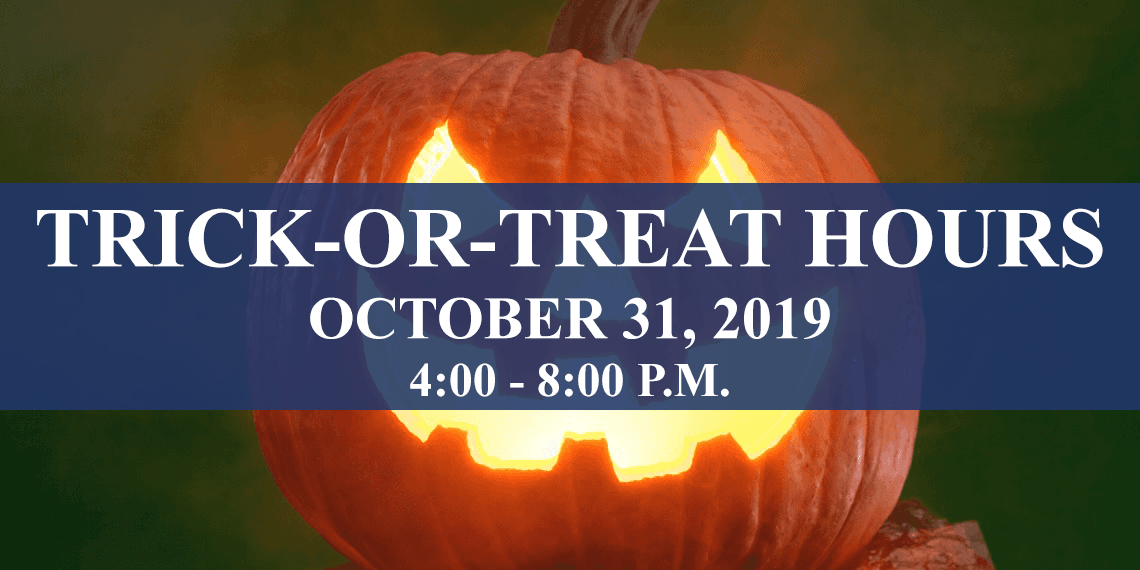 Trick or Treat hours 2019