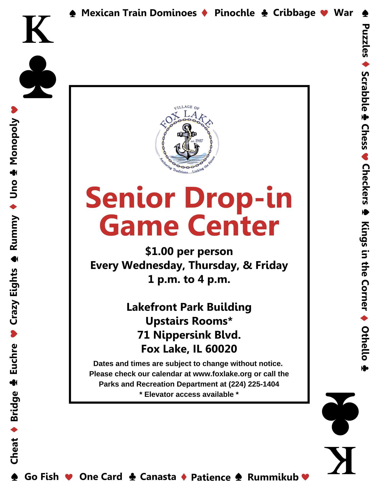 Senior Drop in Center